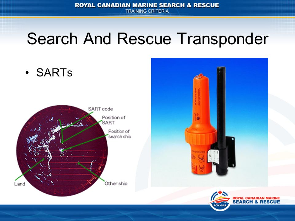 Search And Rescue Transponder SARTs