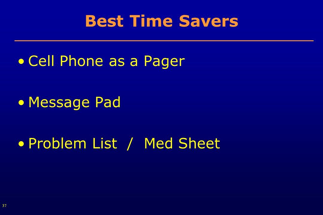 37 Best Time Savers Cell Phone as a Pager Message Pad Problem List / Med Sheet