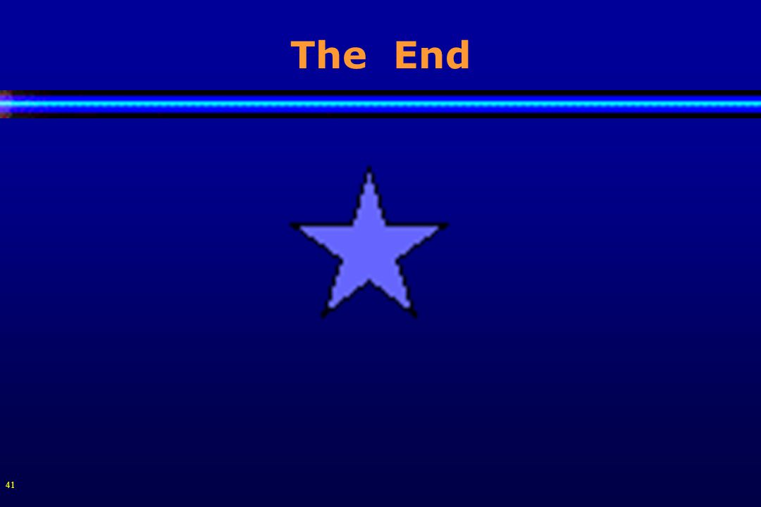 41 The End