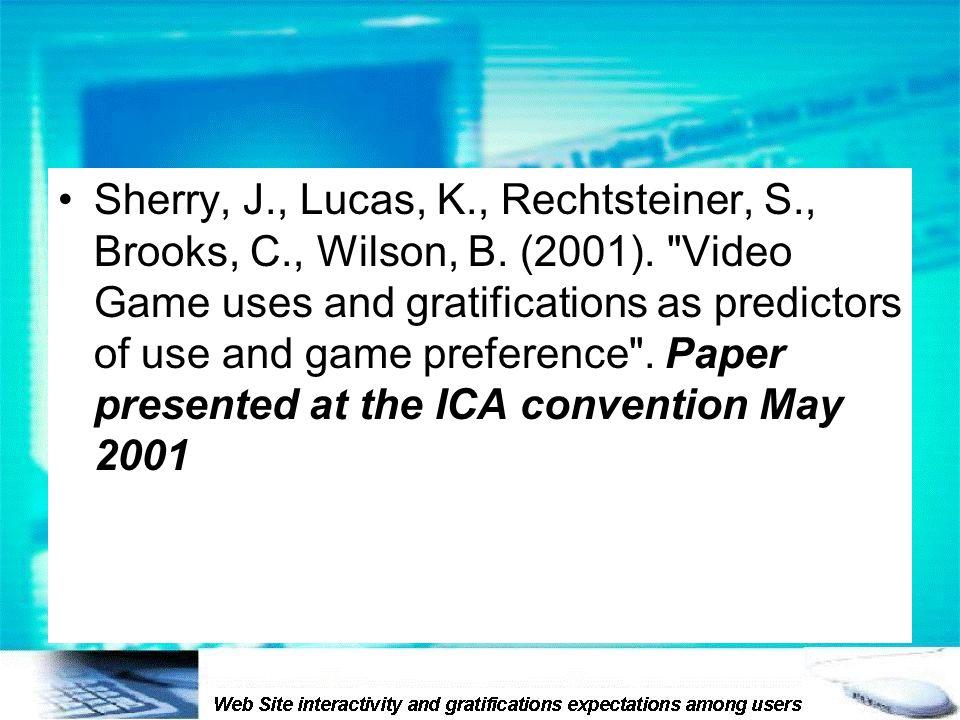Sherry, J., Lucas, K., Rechtsteiner, S., Brooks, C., Wilson, B.
