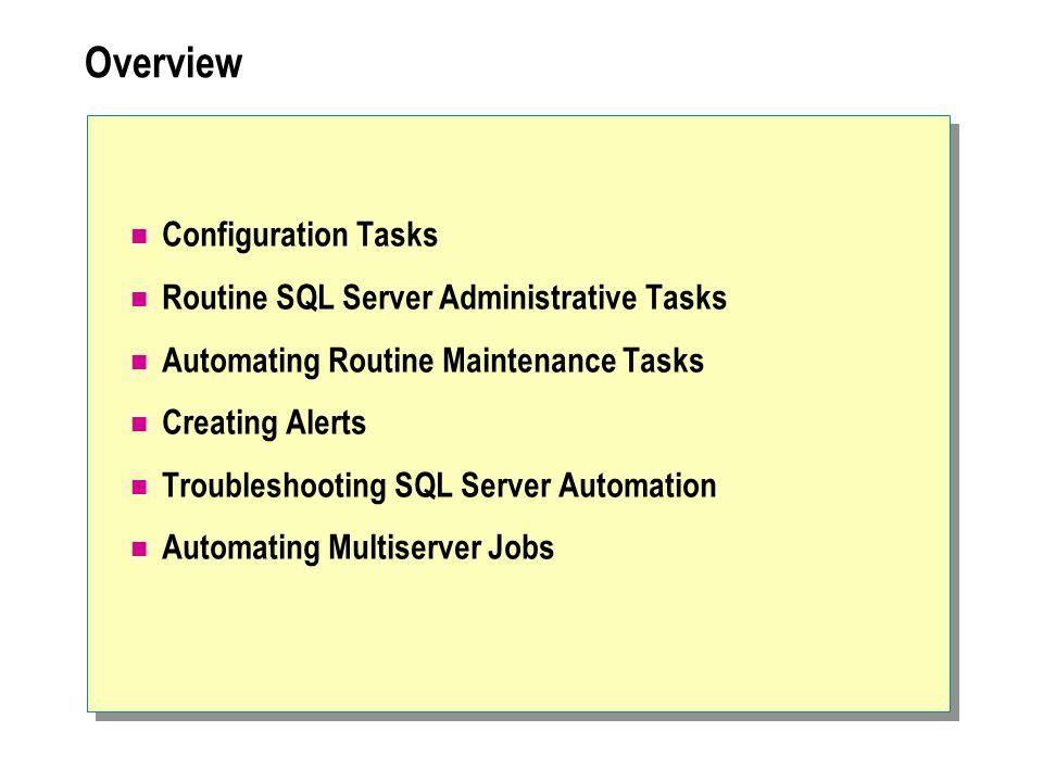 Multimedia Presentation: Automating SQL Server Administration