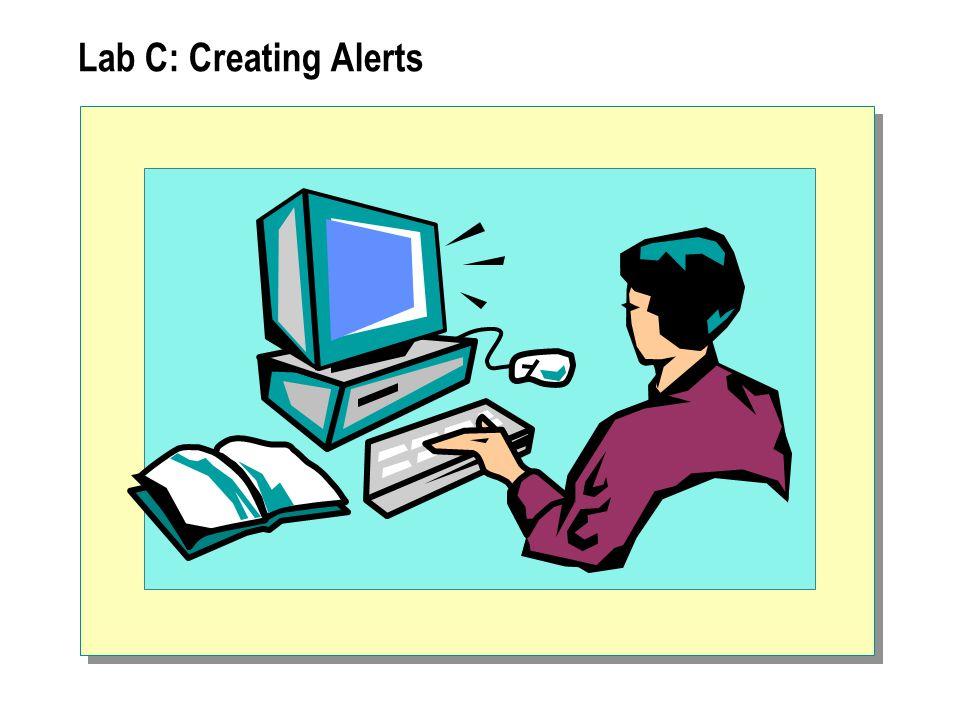 Lab C: Creating Alerts