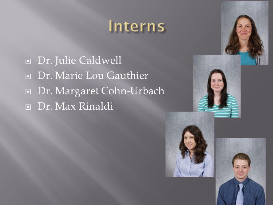  Dr. Julie Caldwell  Dr. Marie Lou Gauthier  Dr. Margaret Cohn-Urbach  Dr. Max Rinaldi