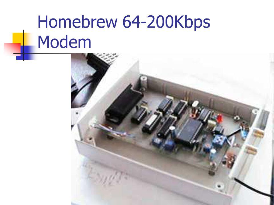 Homebrew 64-200Kbps Modem