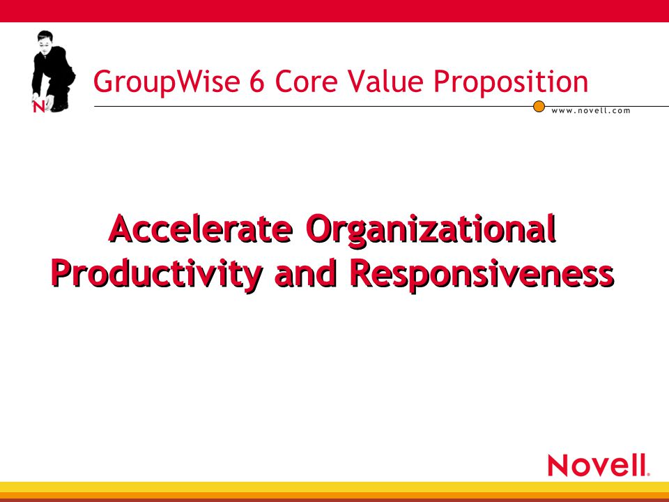 GroupWise 6 Core Value Proposition Accelerate Organizational Productivity and Responsiveness