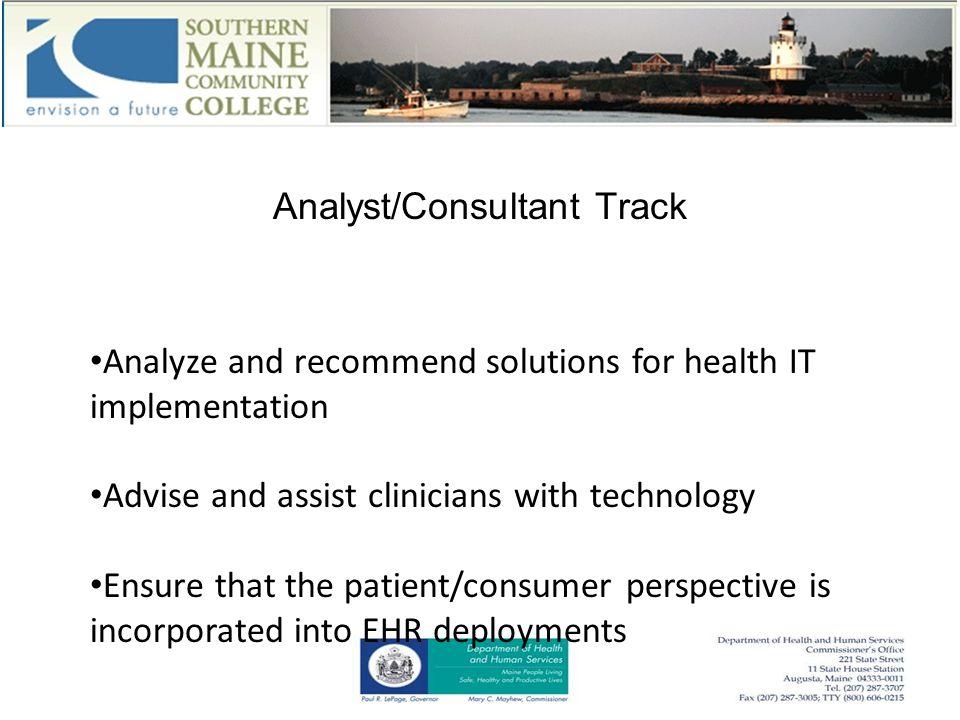 Contact Paul Richardson Program Director - Health Information Technology Southern Maine Community College 2 Fort Road South Portland, Maine 04106 207 741 5870 email: prichardson@smccME.edu web: smccME.edu/HIT