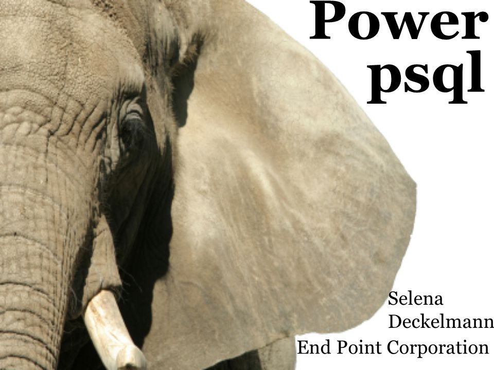 Power Selena Deckelmann psql End Point Corporation
