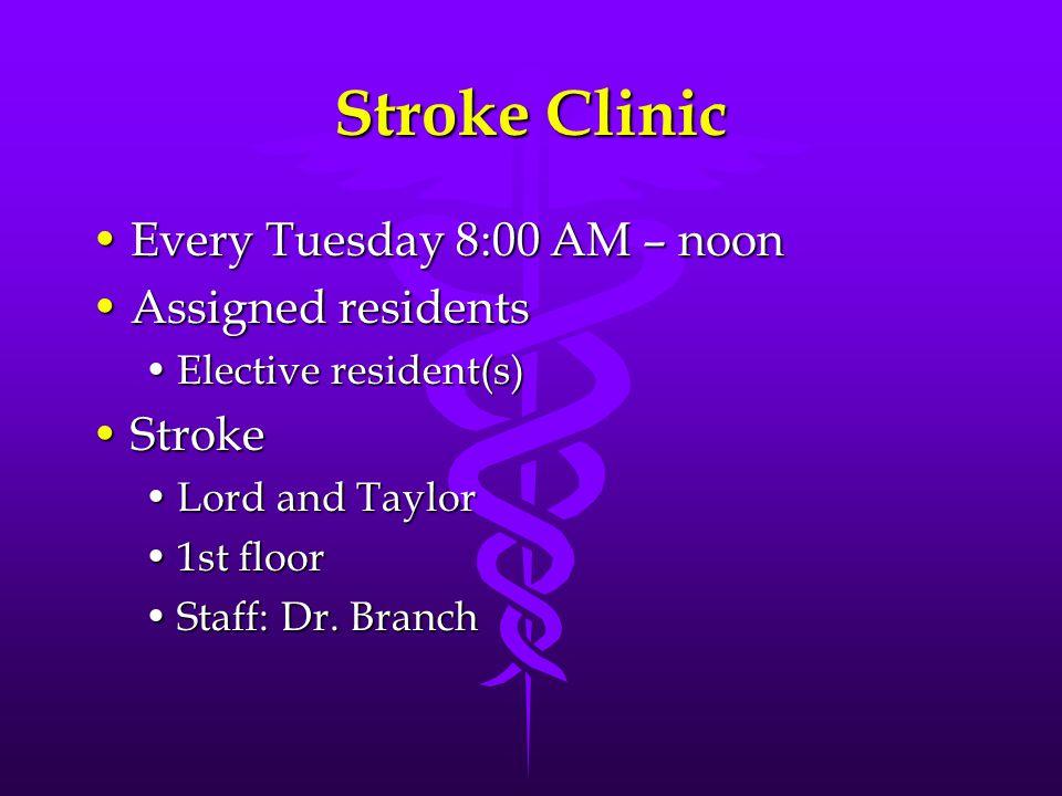 Lionel A. Branch, MD Stroke