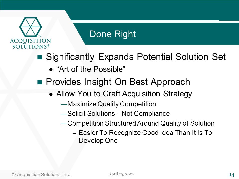 © Acquisition Solutions, Inc.