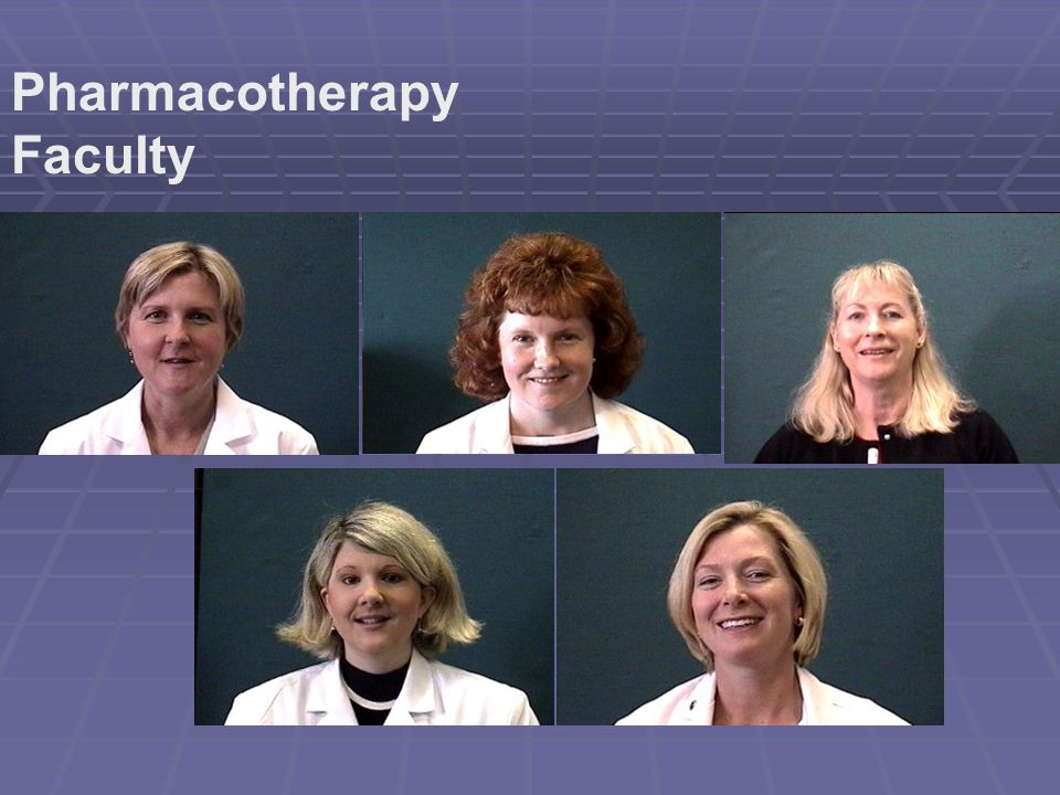 Pharmacotherapy Faculty