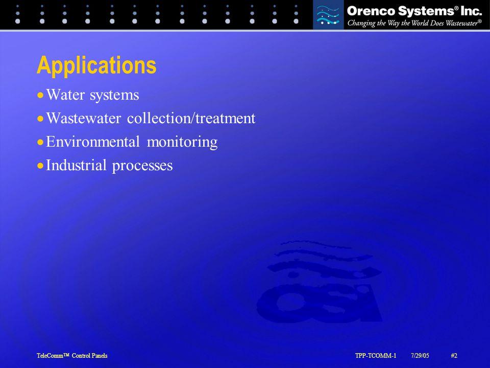 TeleComm™ Control PanelsTPP-TCOMM-17/29/05#3 Custom TeleComm™ Panel Overview