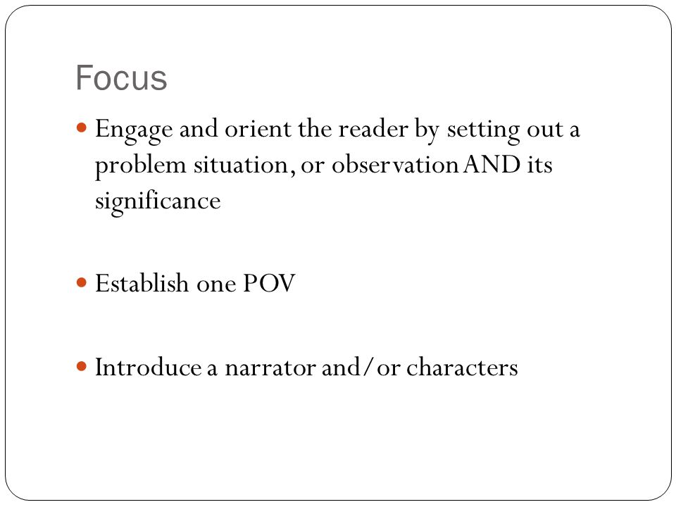 Content Use techniques such as dialogue, description, reflection, multiple plot lines, and pacing to develop experiences, events, and or characters.