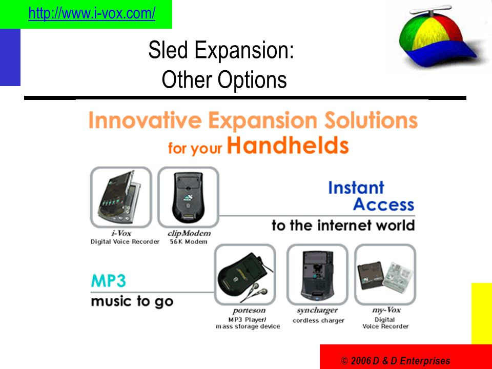 © 2006 D & D Enterprises Sled Expansion: Other Options http://www.i-vox.com/