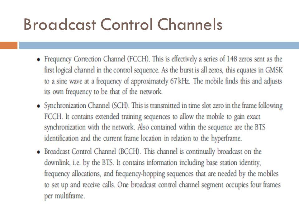 Common Control Channels