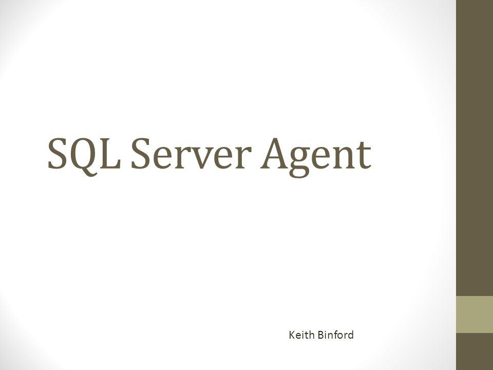 Creating Proxies A SQL Server Agent proxy defines the security context for a job step.