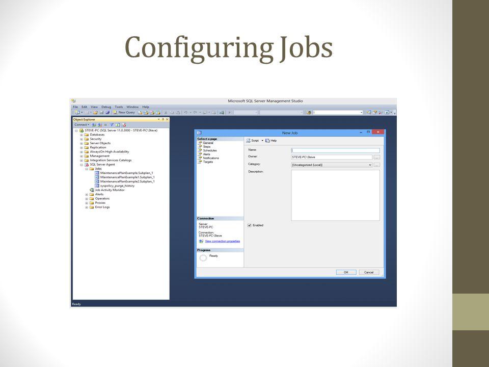 Configuring Jobs