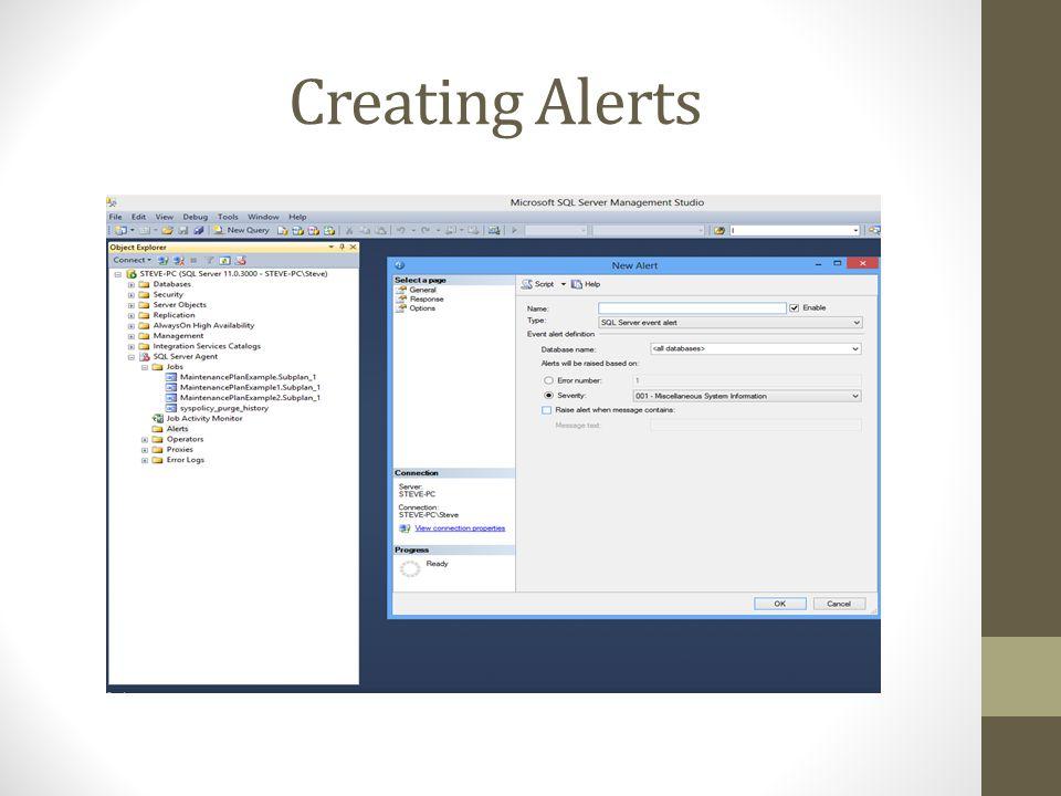 Creating Alerts