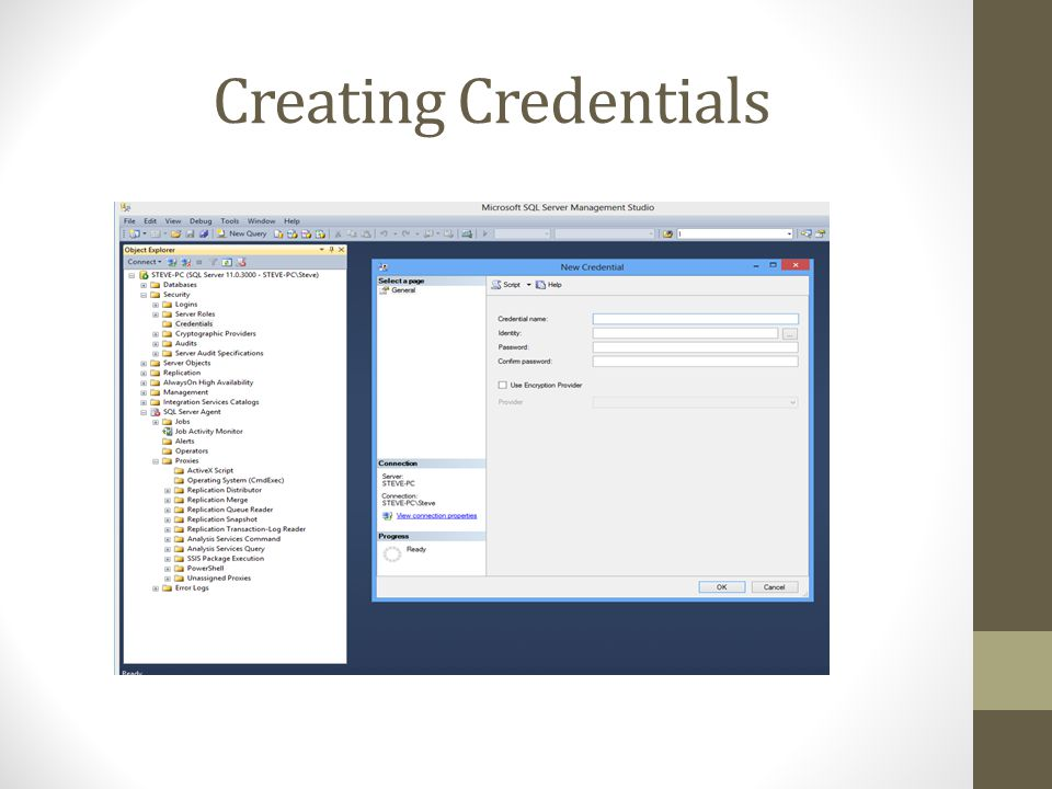 Creating Credentials