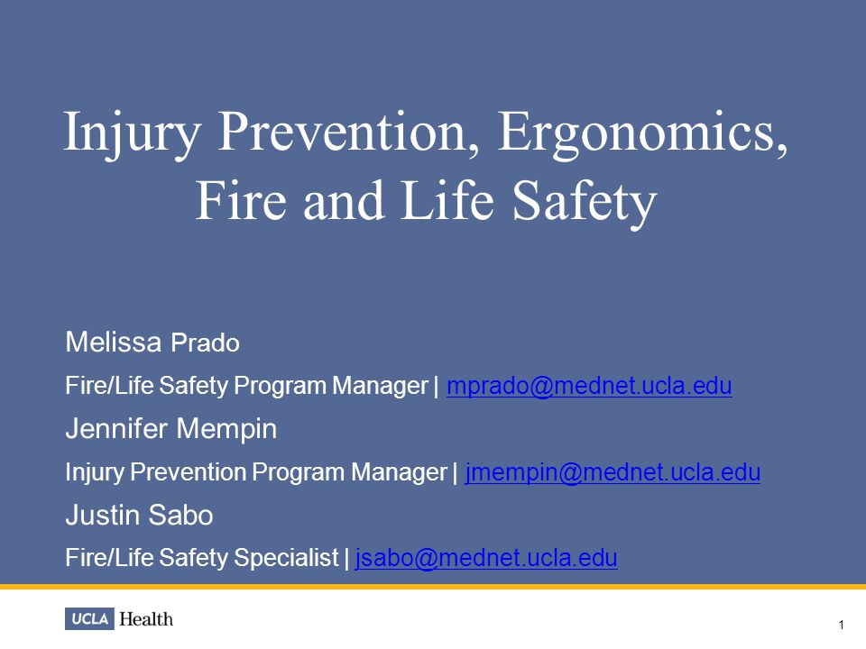 Fire & Life Safety Fire Safety is a component of the Joint Commission Environment of Care (EC) standards  The goal of the Environment of Care (EC) and the Life Safety Programs is to provide a safe, functional and effective environment for patients, staff and visitors  Today's objective: to familiarize yourself with the areas in which you work and be prepared to react to a fire or life safety emergency 2