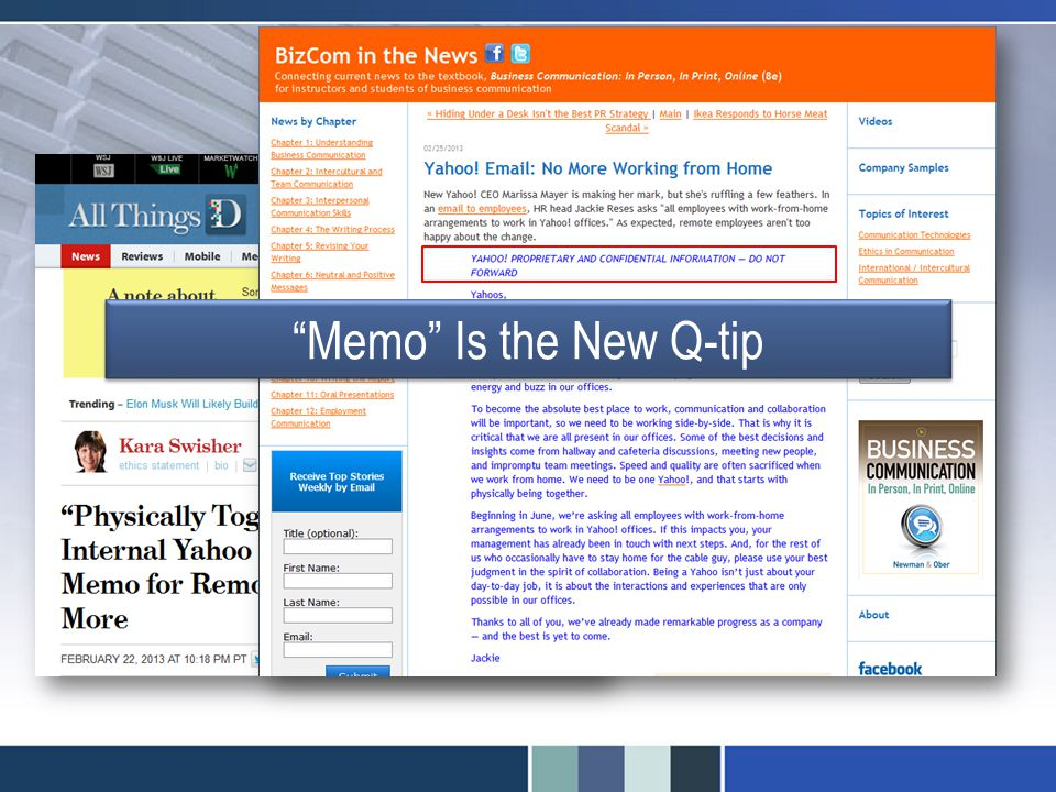 Memo Is the New Q-tip