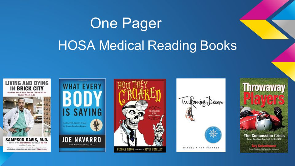 One Pager HOSA Medical Reading Books