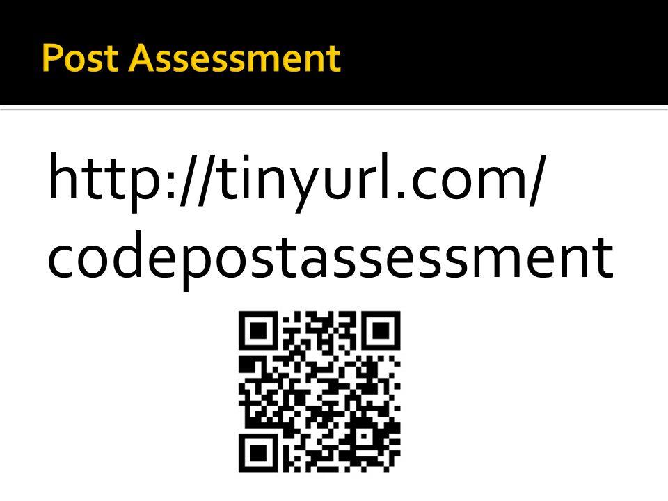 http://tinyurl.com/ codepostassessment