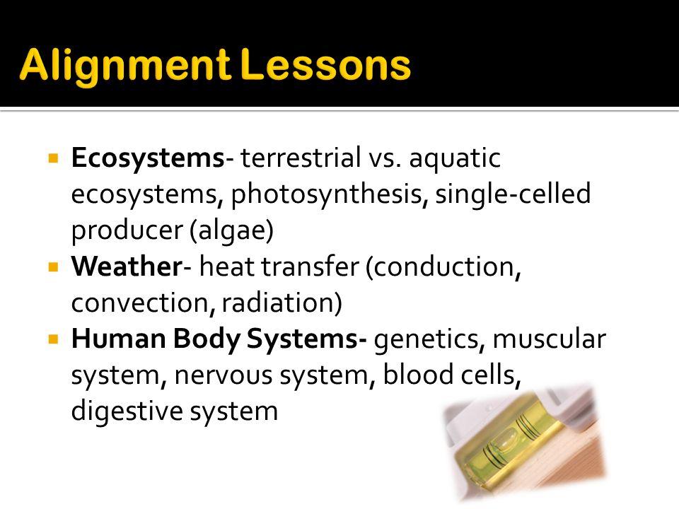  Ecosystems- terrestrial vs.
