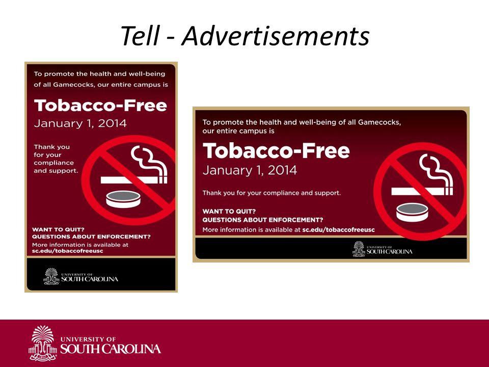 Tell - Advertisements