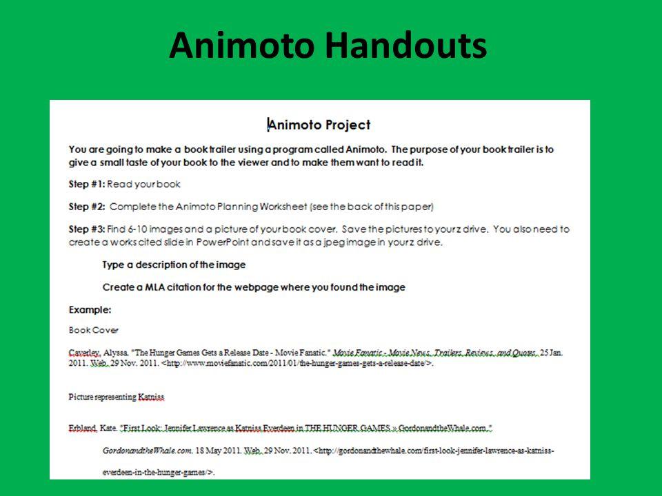 Animoto Handouts