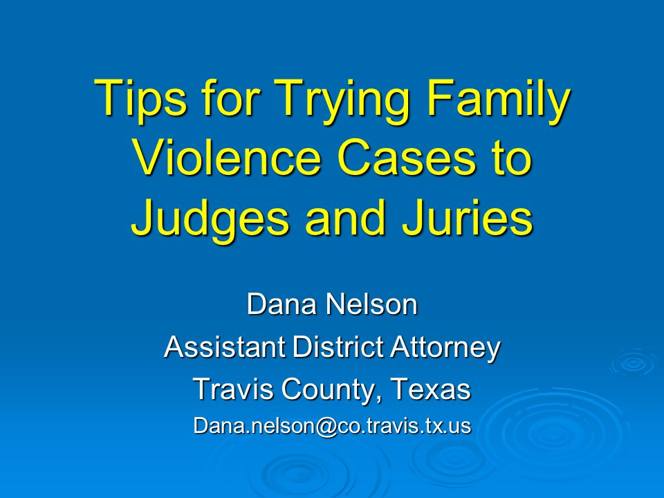 TRIAL  Jury Selection  Jury Charge