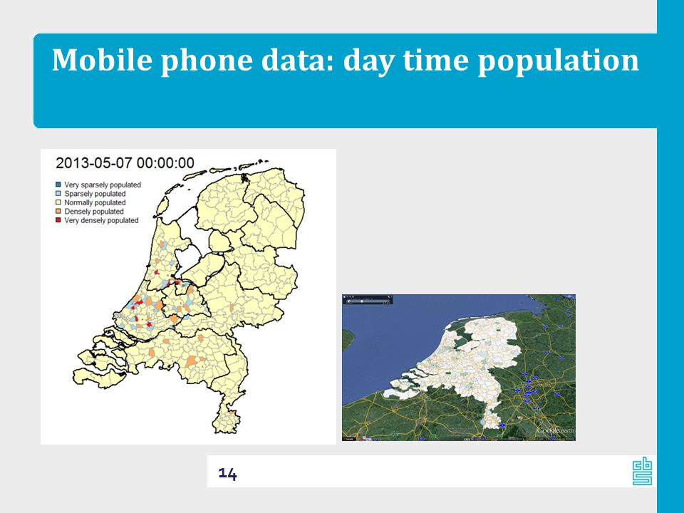 Mobile phone data: day time population 14
