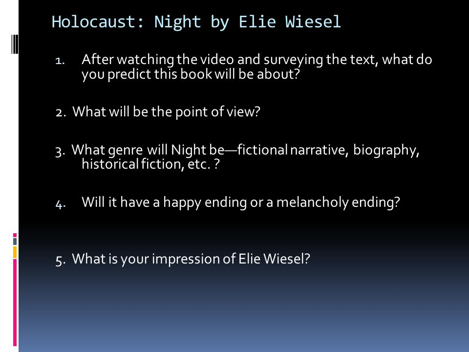 Holocaust: Video Questions 1. In the 1940s, who was driven out of their neighborhoods and homes? 2. What is the Holocaust? 3. Where did the Holocaust