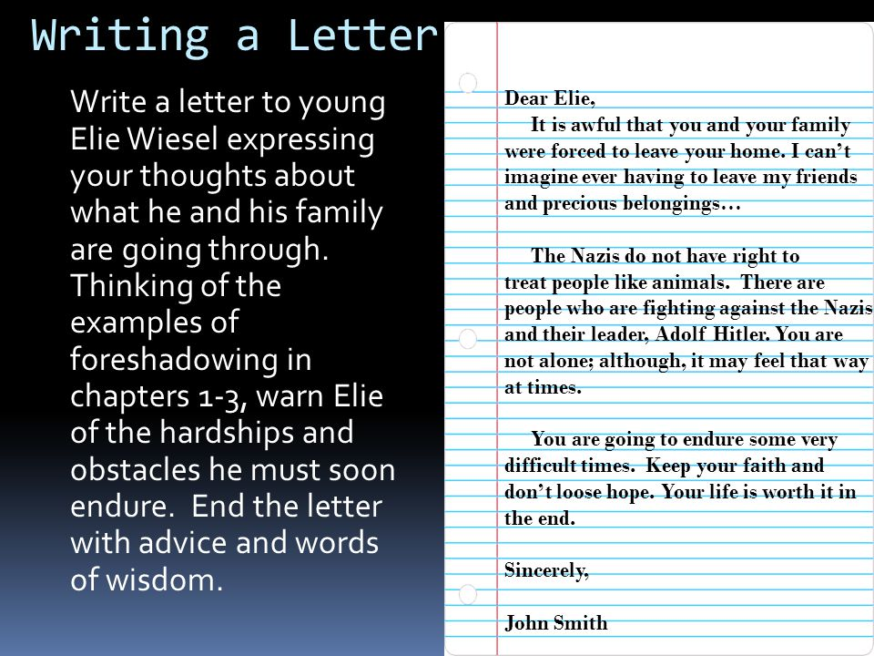 Bell Ringer: Wed. 2/9- Corrections 1. In this section of Night, the Jewish people in the town were forced to leave there belongings. 2. The Jewish peo