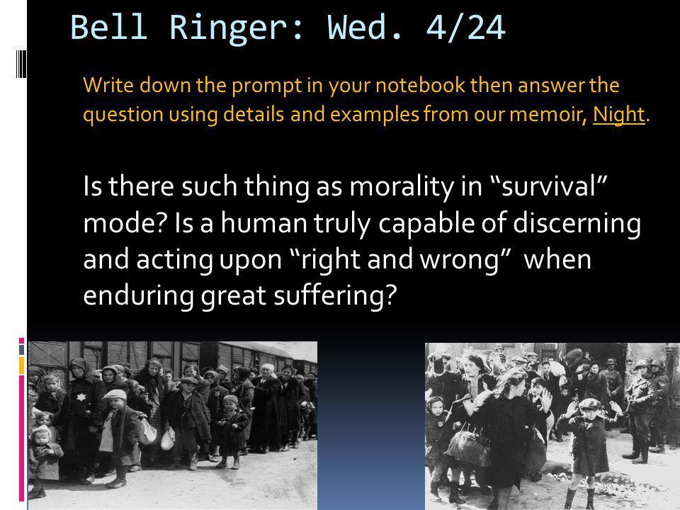 Bell Ringer: Fri.4/12 Write out the sentences.