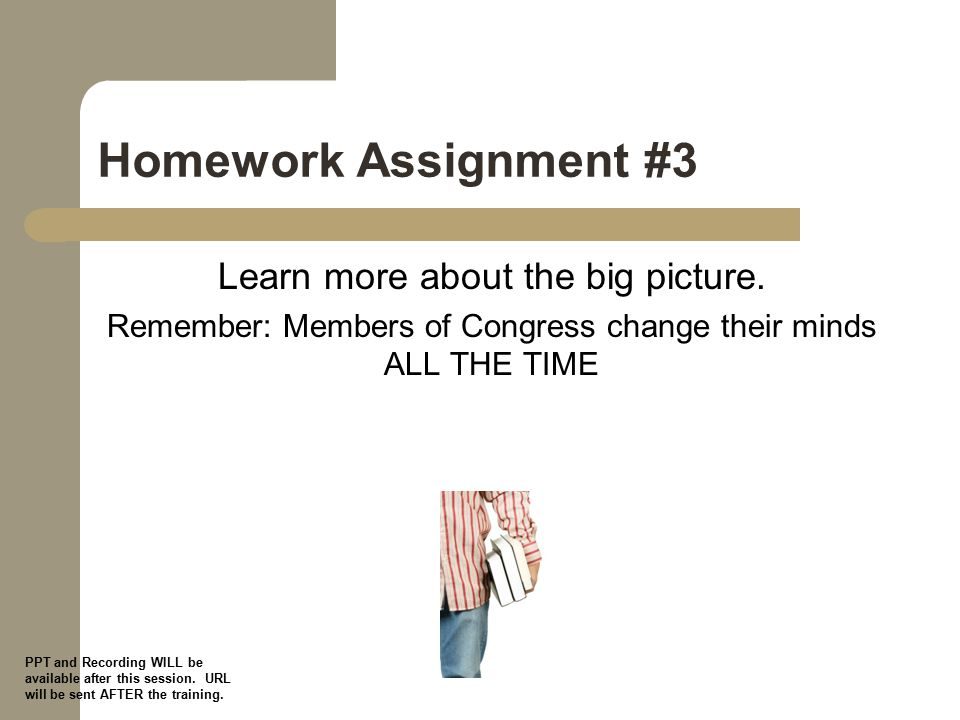 Homework Assignment #3 Learn more about the big picture.