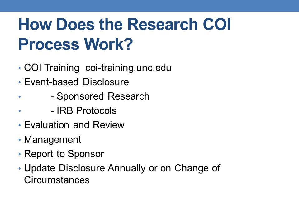 How Does the Research COI Process Work.