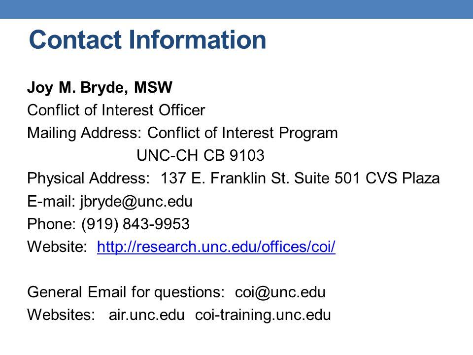 Contact Information Joy M.