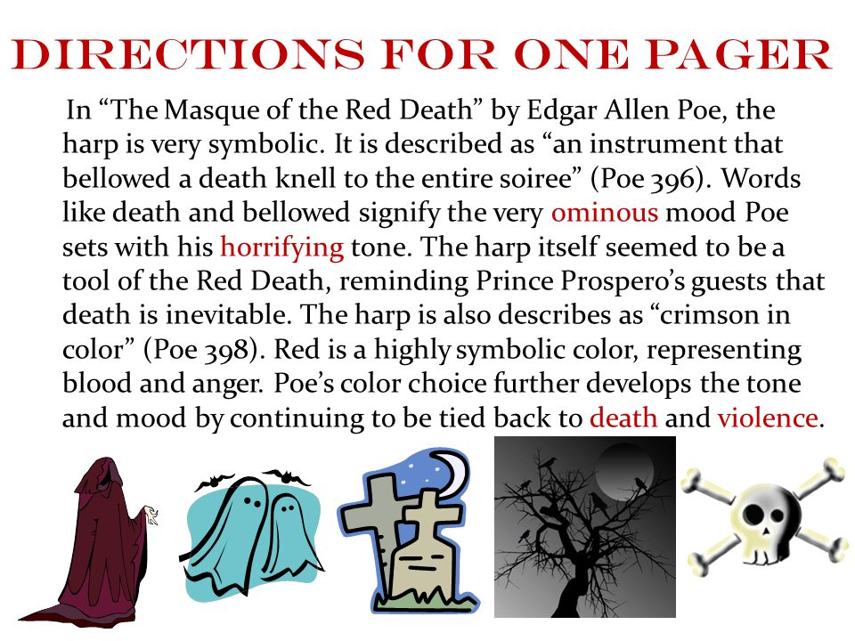 the masque of the red death essay symbolism