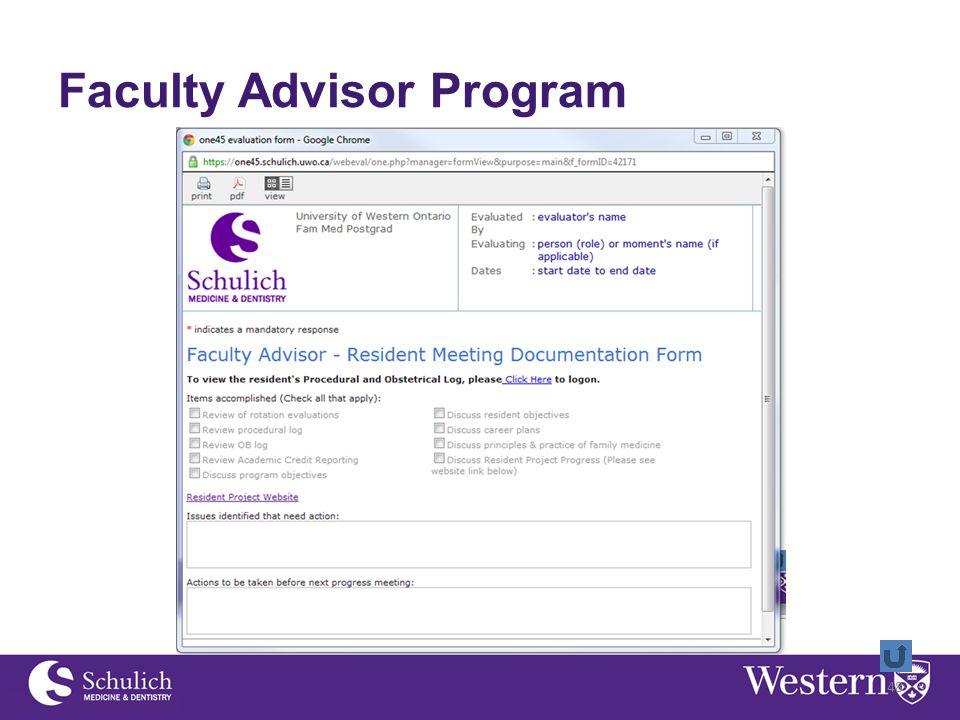 Faculty Advisor Program 48