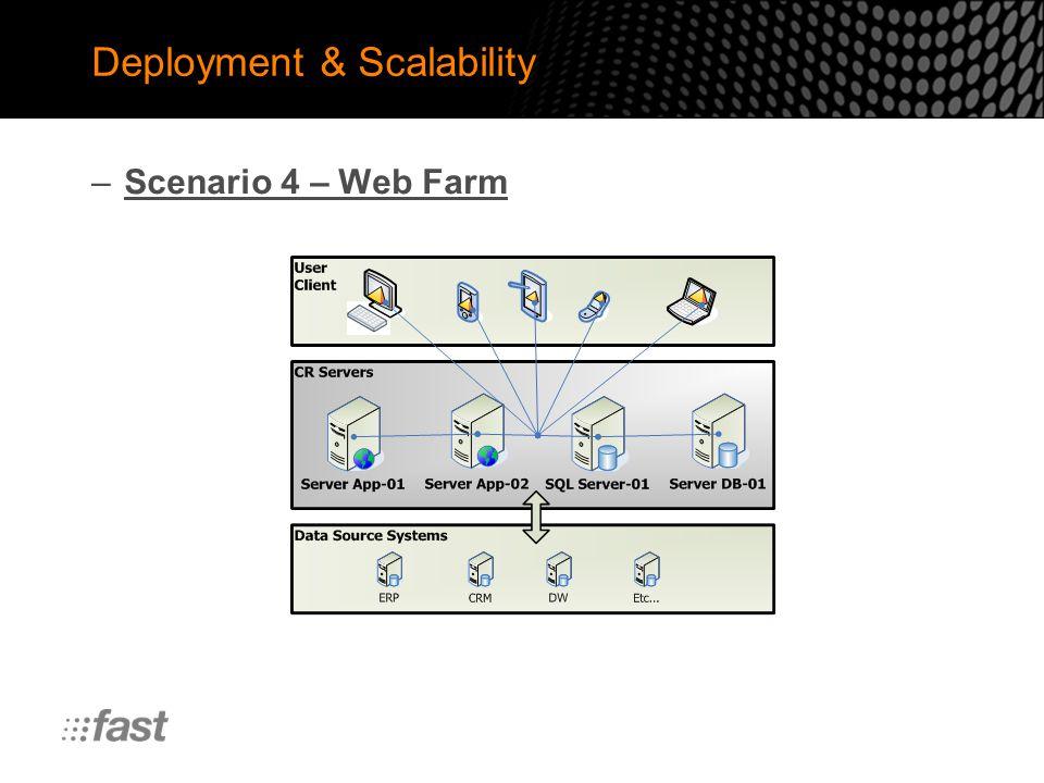 Deployment & Scalability –Scenario 4 – Web Farm