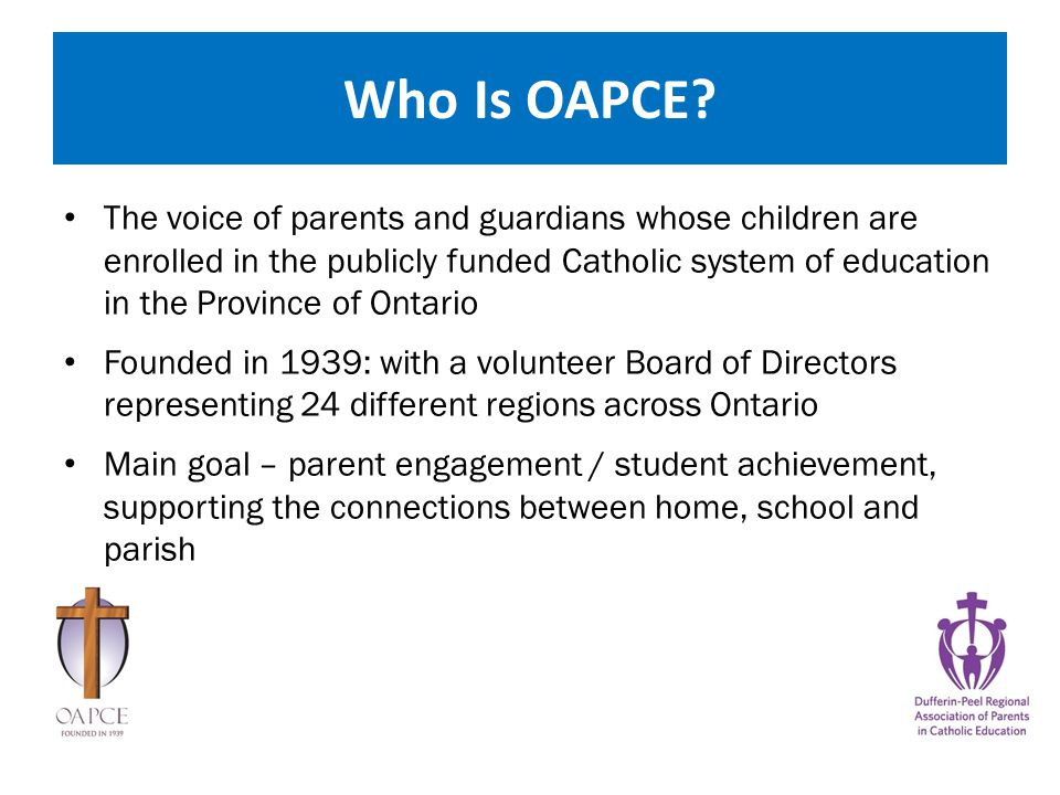 Handout package What you will find in your package : Welcome letter OAPCE one pager OAPCE annual awards information Parent Resource information sheet DRAPCE council meeting dates & map OAPCE conference Save the date flyer Contact information Information share sheet What you will find in your package : Welcome letter OAPCE one pager OAPCE annual awards information Parent Resource information sheet DRAPCE council meeting dates & map OAPCE conference Save the date flyer Contact information Information share sheet