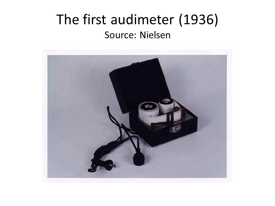 The first audimeter (1936) Source: Nielsen