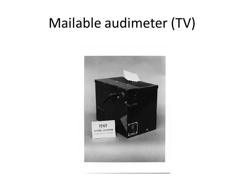 Mailable audimeter (TV)