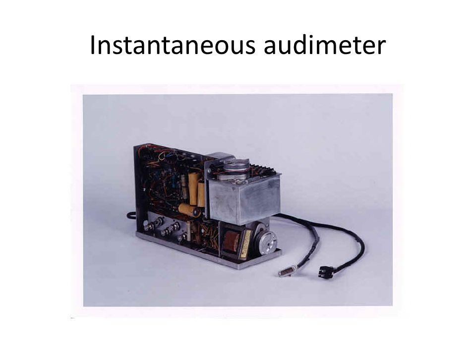Instantaneous audimeter