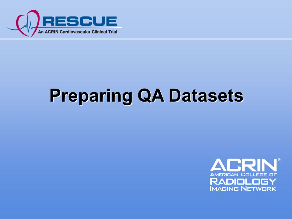 Preparing QA Datasets