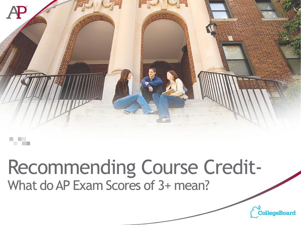 Recommending Course Credit- What do AP Exam Scores of 3+ mean?