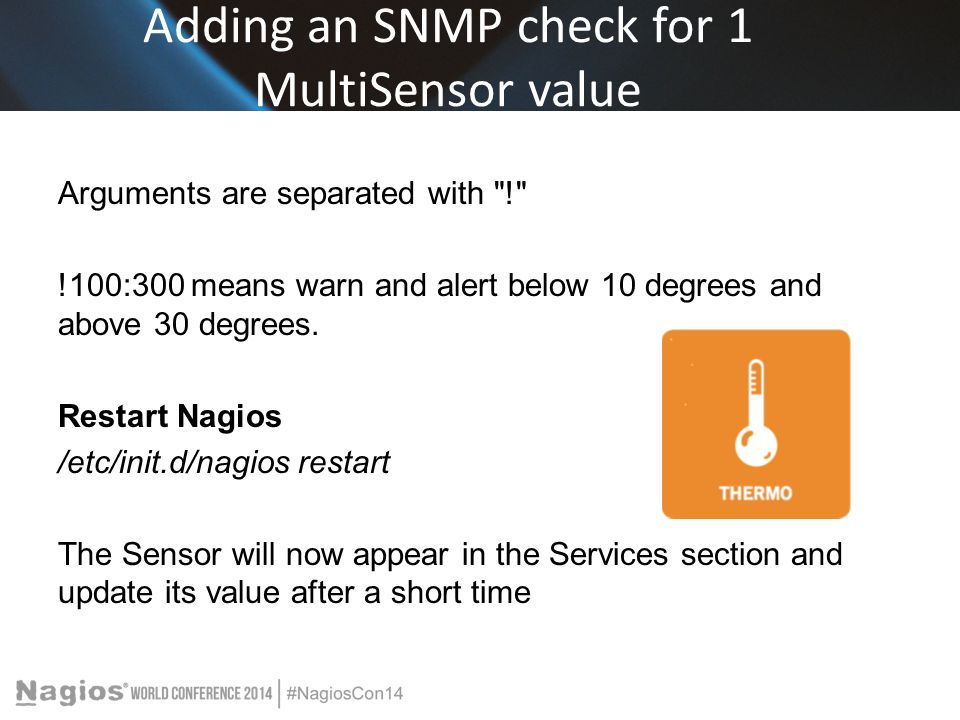Adding an SNMP check for 1 MultiSensor value Arguments are separated with