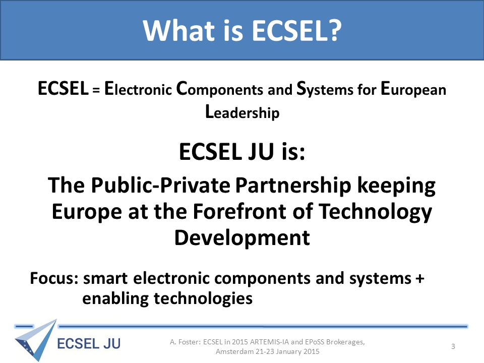 What is ECSEL.
