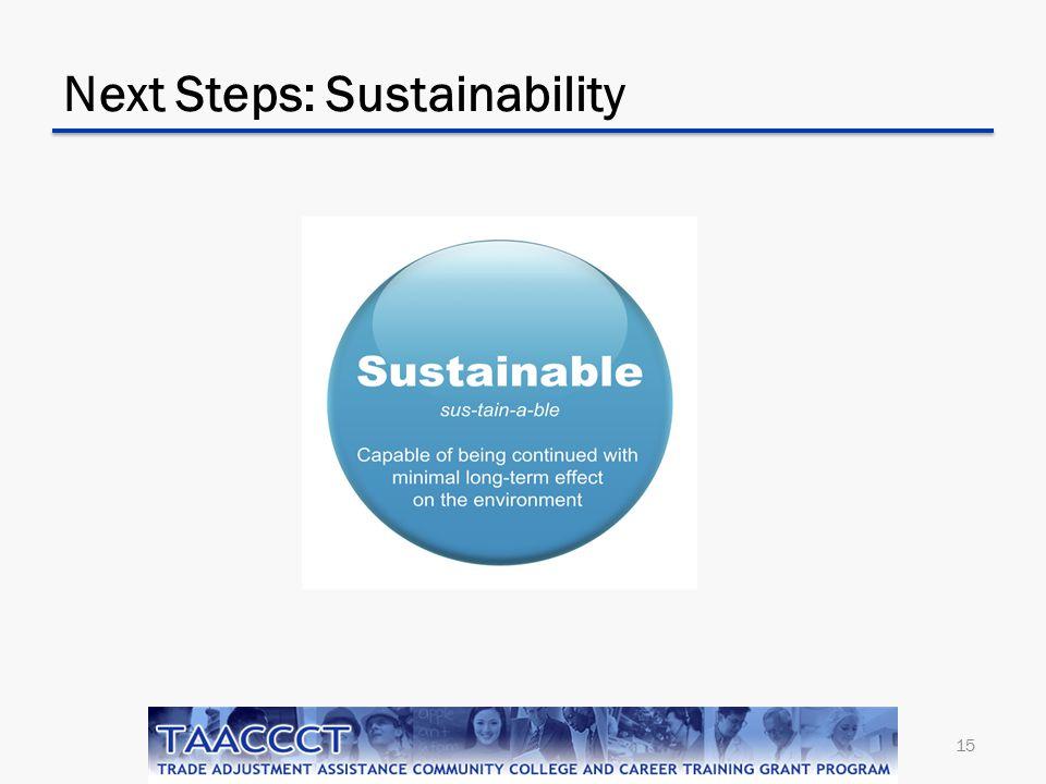Next Steps: Sustainability 15