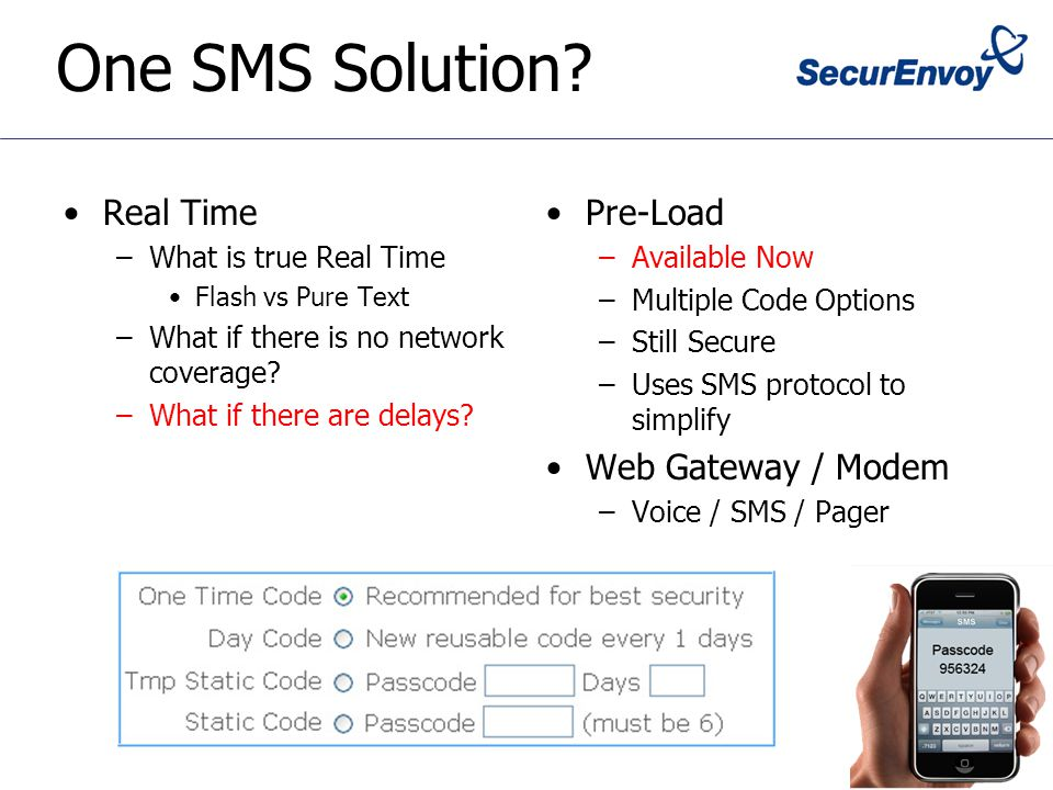 One SMS Solution.
